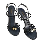 Heeled Sandals LOUIS VUITTON Blue, navy, turquoise