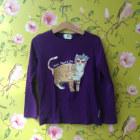 Top, Tee-shirt LITTLE PAUL & JOE Violet, mauve, lavande
