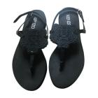 Sandales compensées KENZO Noir