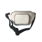 Leather Shoulder Bag LACOSTE White, off-white, ecru