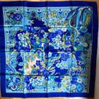 Foulard COURRÈGES Bleu, bleu marine, bleu turquoise