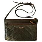 Leather Shoulder Bag ZADIG & VOLTAIRE Khaki