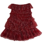 Mini Skirt IRO Red, burgundy