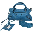 Borsetta in pelle BALENCIAGA First Blu, blu navy, turchese