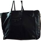 Leather Handbag BALENCIAGA Papier Black