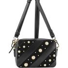 Leather Shoulder Bag KARL LAGERFELD Black
