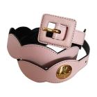 Wide Belt YVES SAINT LAURENT Pink, fuchsia, light pink