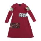 Midi Dress JEAN PAUL GAULTIER Red, burgundy