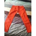 Pantalon carotte BERENICE Rouge, bordeaux