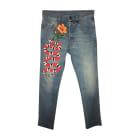 Skinny Jeans GUCCI Blau, marineblau, türkisblau