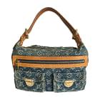 Non-Leather Handbag LOUIS VUITTON Blue, navy, turquoise