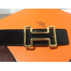 Belt HERMÈS Golden, bronze, copper