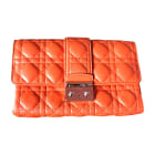 Sac pochette en cuir DIOR Orange