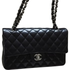 Leather Clutch CHANEL Timeless Black
