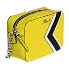 Leather Shoulder Bag KARL LAGERFELD Yellow