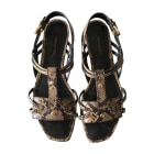 Flat Sandals LOUIS VUITTON Animal prints