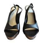 Sandales à talons CHANEL Noir