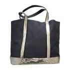 Non-Leather Handbag VANESSA BRUNO bleu marine et argenté