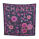 Silk Scarf CHANEL Blue, navy, turquoise