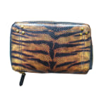 Leather Clutch JEROME DREYFUSS Animal prints