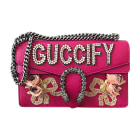 Leather Shoulder Bag GUCCI Pink, fuchsia, light pink