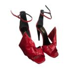 Sandales à talons SAINT LAURENT Rouge, bordeaux