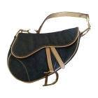 Non-Leather Handbag DIOR Saddle Blue, navy, turquoise
