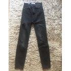 Pantalon slim, cigarette PULL & BEAR Noir