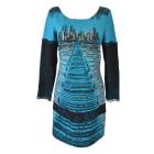 Mini-Kleid SAVE THE QUEEN Blau, marineblau, türkisblau