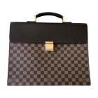 Briefcase, folder LOUIS VUITTON Brown