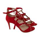 Heeled Sandals MIU MIU Red, burgundy