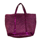 Non-Leather Oversize Bag VANESSA BRUNO Pink, fuchsia, light pink
