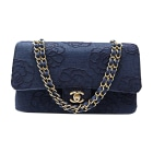 Non-Leather Shoulder Bag CHANEL Timeless Blue, navy, turquoise