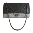 Non-Leather Shoulder Bag CHANEL Gray, charcoal