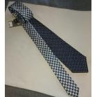 Cravate CANALI Bleu marine / gris perle argenté