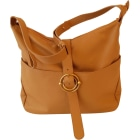 Leather Shoulder Bag FURLA Beige, camel