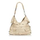 Leather Shoulder Bag YVES SAINT LAURENT White