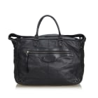Leather Oversize Bag BALENCIAGA Black