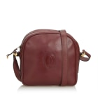 Leather Shoulder Bag CARTIER Red