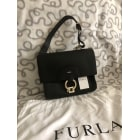 Leather Shoulder Bag FURLA Black