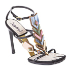 Heeled Sandals YVES SAINT LAURENT Multicolor