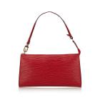 Leather Handbag LOUIS VUITTON Red