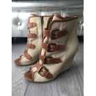 Wedge Ankle Boots ASH Beige, camel
