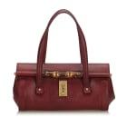 Leather Handbag GUCCI Red