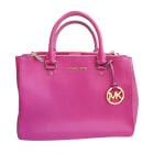 Leather Handbag MICHAEL KORS Pink, fuchsia, light pink