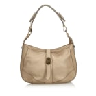 Leather Shoulder Bag BURBERRY Brown