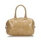 Leather Handbag YVES SAINT LAURENT Brown