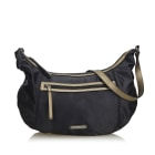 Leather Shoulder Bag BURBERRY Black