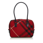 Leather Shoulder Bag BURBERRY Red