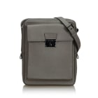 Leather Shoulder Bag BURBERRY Gray